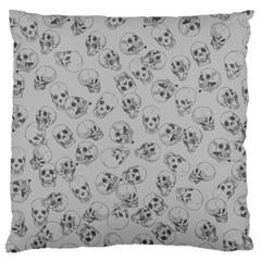 A Lot Of Skulls Grey Large Flano Cushion Case (two Sides)