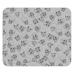 A Lot Of Skulls Grey Double Sided Flano Blanket (small)