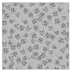 A Lot Of Skulls Grey Large Satin Scarf (square)