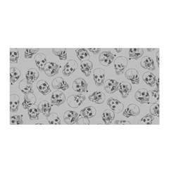 A Lot Of Skulls Grey Satin Wrap