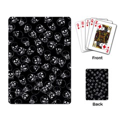 A Lot Of Skulls Black Playing Card