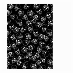 A Lot Of Skulls Black Small Garden Flag (two Sides)