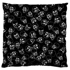A Lot Of Skulls Black Large Cushion Case (two Sides)