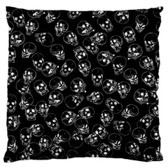 A Lot Of Skulls Black Standard Flano Cushion Case (two Sides)