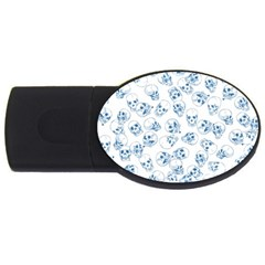 A Lot Of Skulls Blue Usb Flash Drive Oval (4 Gb)