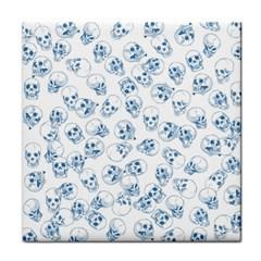 A Lot Of Skulls Blue Face Towel