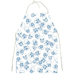 A Lot Of Skulls Blue Full Print Aprons
