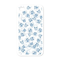 A Lot Of Skulls Blue Apple Iphone 4 Case (white)