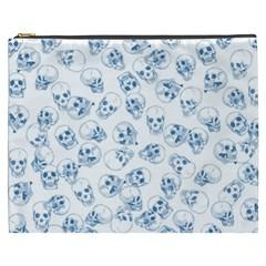 A Lot Of Skulls Blue Cosmetic Bag (xxxl)