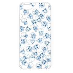 A Lot Of Skulls Blue Apple Iphone 5 Seamless Case (white)