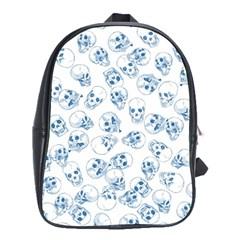 A Lot Of Skulls Blue School Bag (xl)