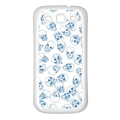 A Lot Of Skulls Blue Samsung Galaxy S3 Back Case (white)