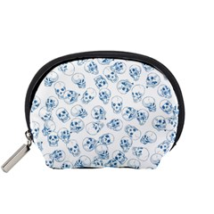 A Lot Of Skulls Blue Accessory Pouches (small)