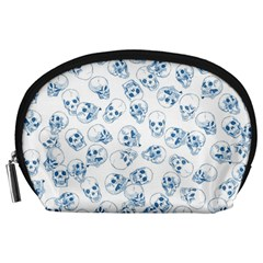 A Lot Of Skulls Blue Accessory Pouches (large)