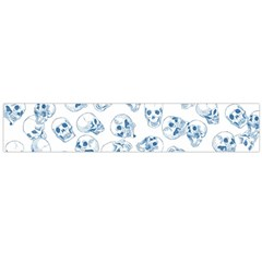 A Lot Of Skulls Blue Large Flano Scarf