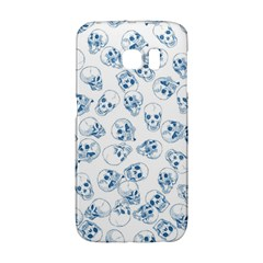 A Lot Of Skulls Blue Galaxy S6 Edge