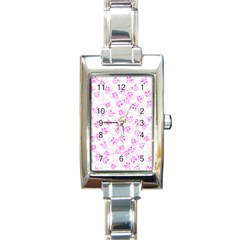 A Lot Of Skulls Pink Rectangle Italian Charm Watch