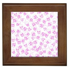 A Lot Of Skulls Pink Framed Tiles