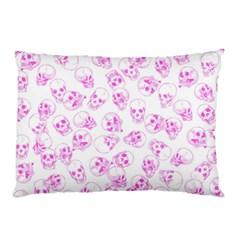 A Lot Of Skulls Pink Pillow Case
