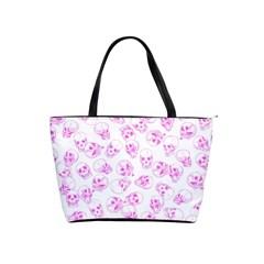 A Lot Of Skulls Pink Shoulder Handbags
