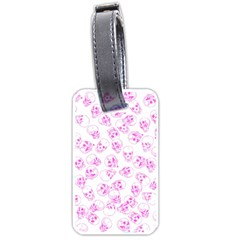 A Lot Of Skulls Pink Luggage Tags (two Sides)