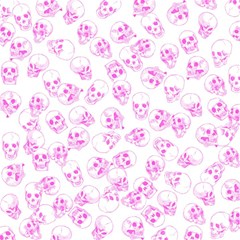 A Lot Of Skulls Pink Magic Photo Cubes