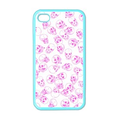 A Lot Of Skulls Pink Apple Iphone 4 Case (color)