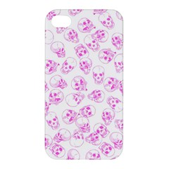 A Lot Of Skulls Pink Apple Iphone 4/4s Premium Hardshell Case