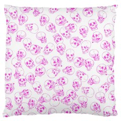 A Lot Of Skulls Pink Standard Flano Cushion Case (one Side)