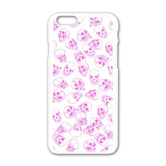 A Lot Of Skulls Pink Apple Iphone 6/6s White Enamel Case