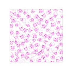 A Lot Of Skulls Pink Small Satin Scarf (square)