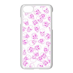 A Lot Of Skulls Pink Apple Iphone 7 Seamless Case (white)