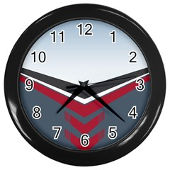 Modern Shapes Wall Clocks (black)