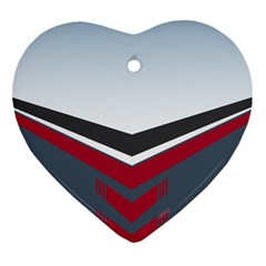 Modern Shapes Heart Ornament (two Sides)