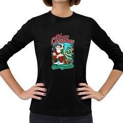 Dear Santa Women s Long Sleeve Dark T Shirts