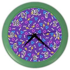 Retro Wave 1 Color Wall Clocks