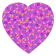 Retro Wave 2 Jigsaw Puzzle (heart)