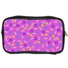 Retro Wave 2 Toiletries Bags 2 Side