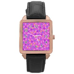 Retro Wave 2 Rose Gold Leather Watch