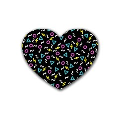 Retro Wave 3 Heart Coaster (4 Pack)