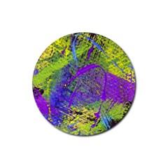 Ink Splash 02 Rubber Round Coaster (4 Pack)