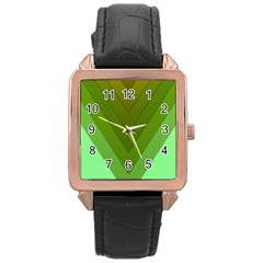 Tri 03 Rose Gold Leather Watch