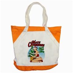 Pin Up Santa Accent Tote Bag