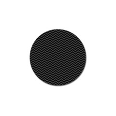 Dark Chevron Golf Ball Marker