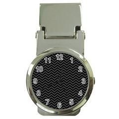 Dark Chevron Money Clip Watches