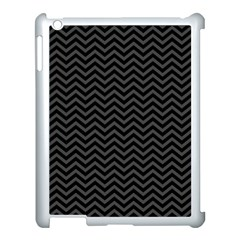 Dark Chevron Apple Ipad 3/4 Case (white)