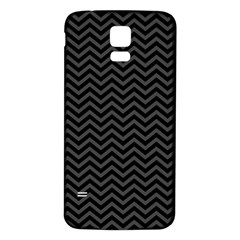 Dark Chevron Samsung Galaxy S5 Back Case (white)