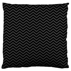 Dark Chevron Large Flano Cushion Case (two Sides)