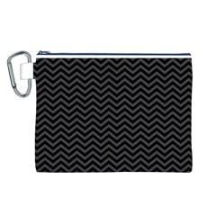 Dark Chevron Canvas Cosmetic Bag (l)