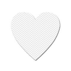Light Chevron Heart Magnet